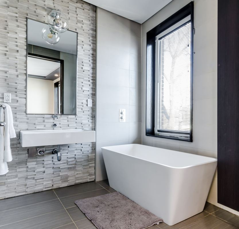 Modern bathroom design with