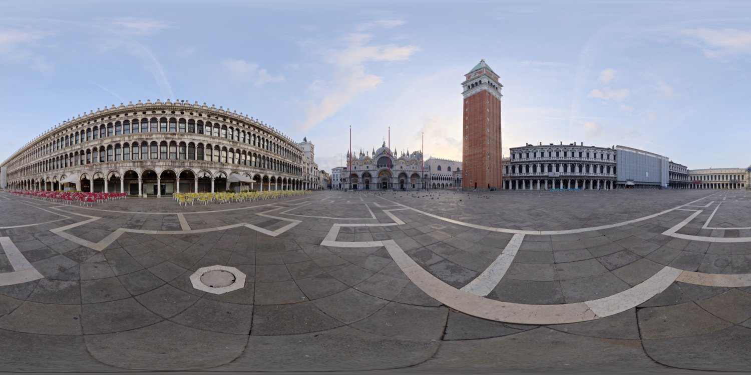piazza san marco full view for HDRI