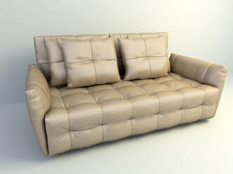 3d model rolled arm Sofa free download