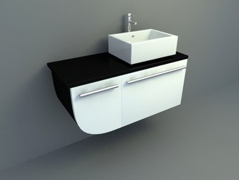 Modern style simple bath cabinet 3d models
