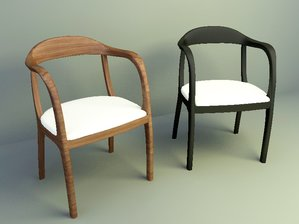 simple wooden chairs design 3d models