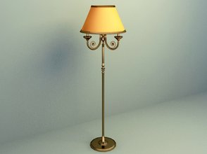 elegant floor lamp 3d model design