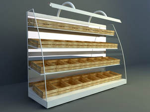 3d model product display cabinet design