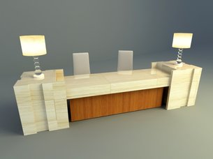 Simple  reception design 3d model