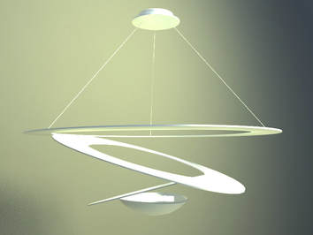 pendant lamp with spring shaping concept design