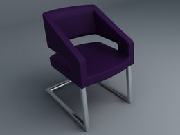 Cantilever chair 3d models