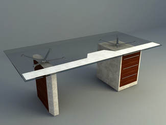 modern office table with modern glass design