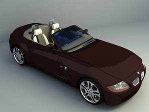 BMW convertible car free 3d models