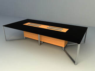 Modern meeting table design 3d models