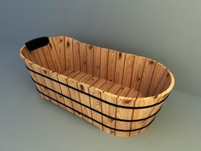 wooden bathtub 3d models