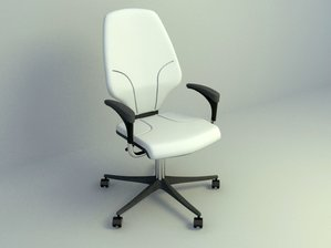 modern office chair with light white color 3d model design