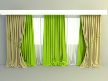 Elegant curtains design 3d model free download