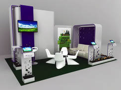 3d booth for green introduction