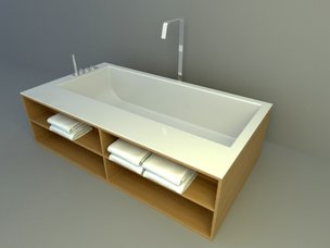 Compound bathtub 3d models