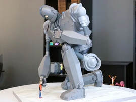 Anime character 3d model - Massive Iron Giant and Hogarth