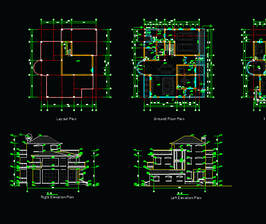 bungalow working plan Cad Blocks free download