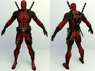 Marvel 3d character - Dead pool