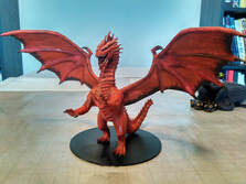 Game character 3d model - Red Dragon