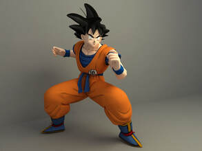 Son goku (dragon ball) 3d character download