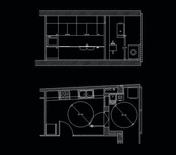 Kitchen Layout plan (for disabled person) Cad block