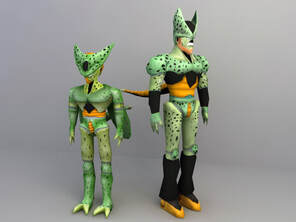 Cell (dragon ball) 3d character download