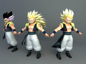 gotenks (dragon ball) 3d character download
