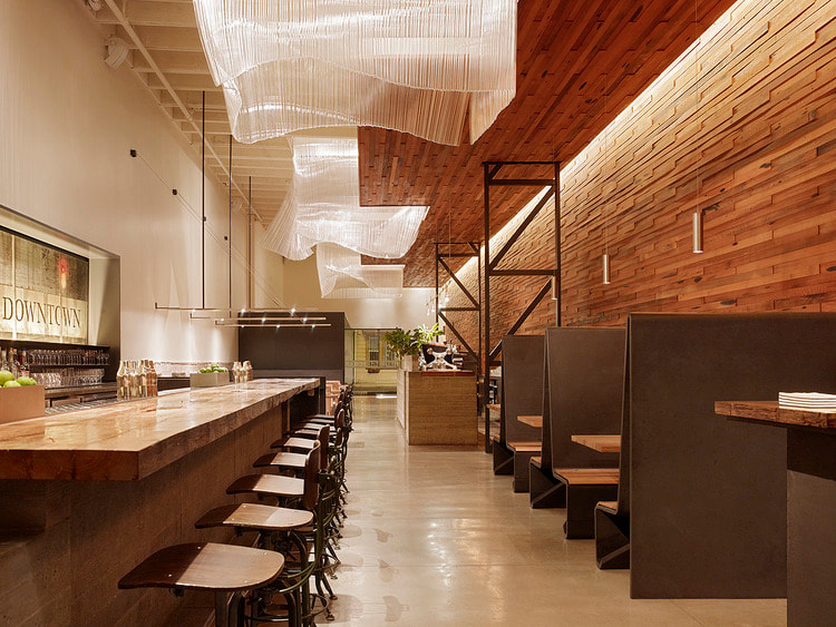 "restaurant style with "" wood of abstract"" concept"