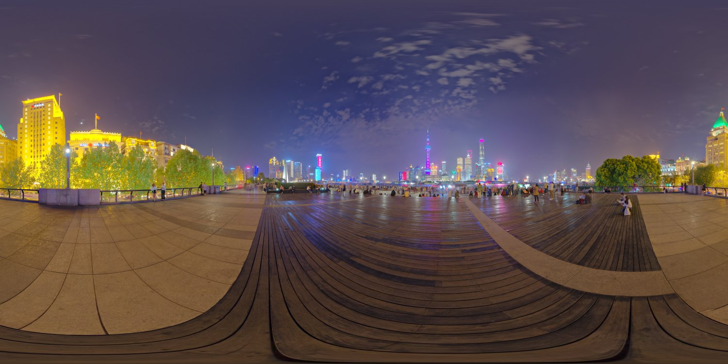 shanghai bund full view for HDRI