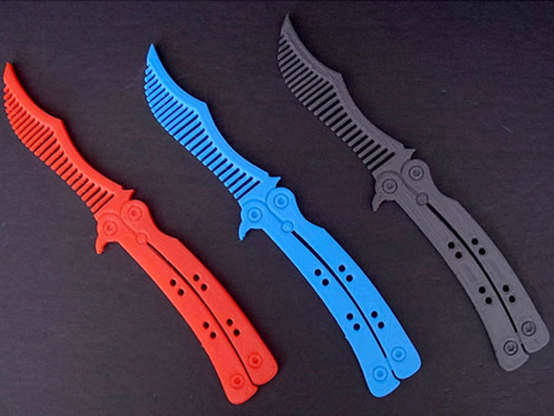 stl file free download - Butterfly Knife Comb