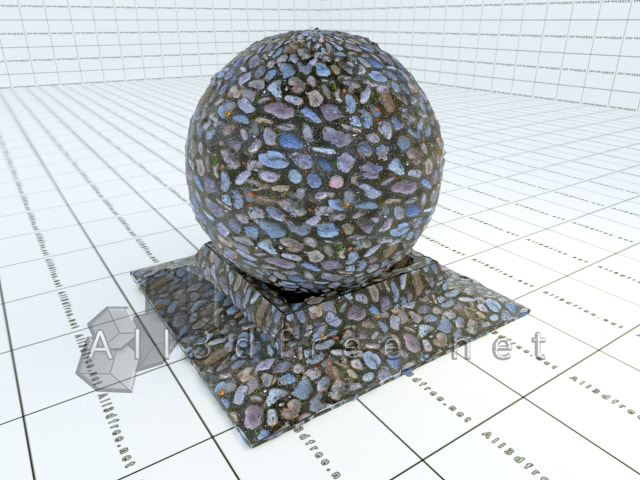 Vray materials Stone road collection 003