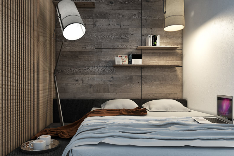studio unit master room with modern look concept design