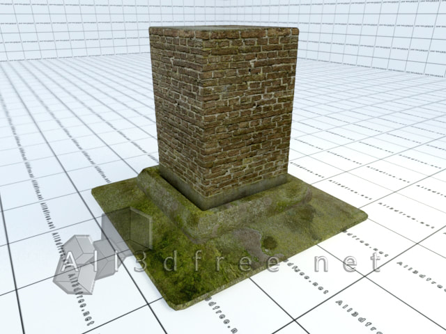 Vray materials Moss stone brick wall 015 in 2020 collection