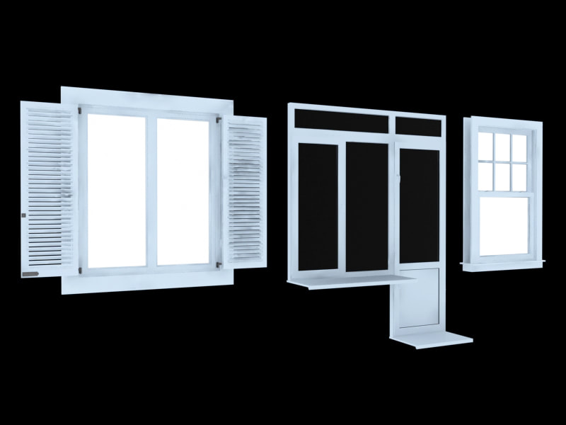 Window Free Download 3d Models Collection